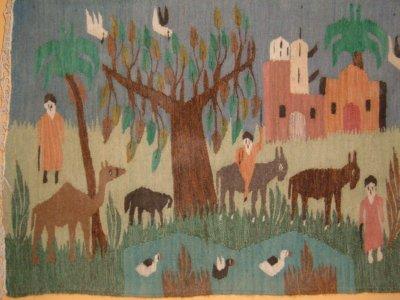 Egyptian farmers tribute to Scream rug